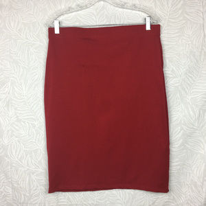 NWT HONEY & LACE Solid Fitted Bodycon Pencil Skirt